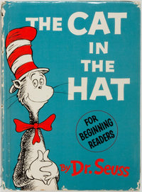 Dr. Seuss. The Cat in the Hat. [New York]: Random House, [1957]. Early issue with flat boards a