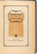Books:Literature 1900-up, William Faulkner. Mosquitoes. New York: Boni and Liveright, 1927. First edition. Publisher's dark blue cloth stamped...