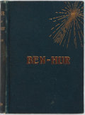 Books:Literature Pre-1900, Lew Wallace. Ben-Hur. A Tale of Christ. New York: Harper, [1880]. Publisher's blue cloth stamped in red and gilt...