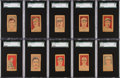 Baseball Cards:Sets, 1926 - 1928 W512 & W513 Anonymous Partial Set With Title Variations (76 Total). ...