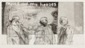 Prints:Contemporary, DAVID HOCKNEY (British, b. 1937). Myself and My Heroes,1961. Etching and aquatint. 10-1/2 x 19-1/2 inches (26.7 x 49.5 ...