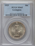 Commemorative Silver: , 1925 50C Lexington MS65 PCGS. PCGS Population (1007/355). NGCCensus: (872/219). Mintage: 162,013. Numismedia Wsl. Price fo...