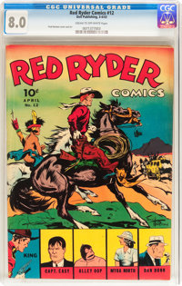 Red Ryder Comics #12 (Dell, 1943) CGC VF 8.0 Cream to off-white pages