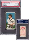 Baseball Cards:Singles (Pre-1930), 1909-11 T206 Hindu (Red) Mickey Doolan, Batting PSA VG-EX 4 - Oneof Only Two! ...