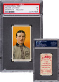 Baseball Cards:Singles (Pre-1930), 1909-11 T206 Hindu (Red) Frank Chance, Yellow Portrait PSA EX 5 -The Finest Known! ...