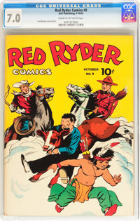 Red Ryder Comics #9 (Dell, 1942) CGC FN/VF 7.0 Cream to off-white pages