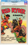 Golden Age (1938-1955):Western, Red Ryder Comics #21 (Dell, 1944) CGC VF- 7.5 Off-white pages....