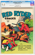 Golden Age (1938-1955):Western, Red Ryder Comics #19 (Dell, 1944) CGC VF/NM 9.0 Cream to off-white pages....