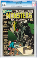 Bronze Age (1970-1979):Horror, DC Special #11 Monsters (DC, 1971) CGC NM+ 9.6 White pages....