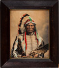 American Indian Art:Photographs, HERMAN HEYN. Broken Arm, Chief. c. 1899...
