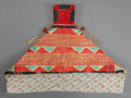 American Indian Art:Beadwork and Quillwork, A SIOUX QUILLED AND BEADED HIDE BABY CARRIER. c. 1900...