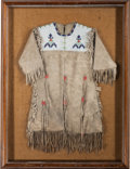 American Indian Art:Beadwork and Quillwork, A SIOUX GIRL'S BEADED HIDE DRESS. c. 1910...