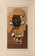 American Indian Art, PABLITA VELARDE, SANTA CLARA (1918 - 2006). Buffalo Dancer. c.1970...