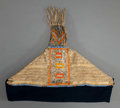 American Indian Art:Beadwork and Quillwork, A SIOUX QUILLED AND BEADED HIDE BABY CARRIER. c. 1880...