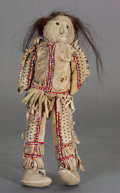 American Indian Art:Beadwork and Quillwork, A NORTHERN PLAINS BEADED HIDE MALE DOLL. c. 1900...