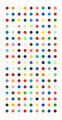 DAMIEN HIRST (British, b. 1965) Methamphetamine, 2004 Etching in colors 70 x 34 inches (177.8 x 86.4 cm) sight Aside