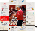 Basketball Collectibles:Others, 1980's College Basketball Signed Business Cards, Photographs &Letters Lot of 170....