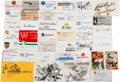 Football Collectibles:Others, Football Greats Signed Business Cards, Etc. Lot of 300+....