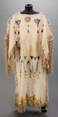 American Indian Art:Beadwork and Quillwork, A KIOWA BEADED HIDE DRESS. c. 1920... (Total: 2 Items)
