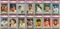 Baseball Cards:Lots, 1952 Topps Baseball Low Numbers PSA Collection (14). ...