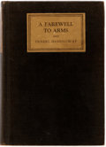 Books:Literature 1900-up, Ernest Hemingway. A Farewell to Arms. Charles Scribner'sSons, 1929. Early reprint edition (November, 1929). Oct...