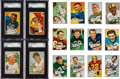 Football Cards:Sets, 1952 Bowman Football Small Complete Set (144) With Over 50 Signed Cards. ...
