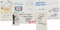 Autographs:Others, 1960's-80's Political, Astronaut, Entertainer & Others SignedBusiness Cards Lot of 65. ...