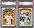 Baseball Cards:Singles (1970-Now), 1972 Topps Roberto Clemente #309 and Clemente IA #310 PSA MINT 9Pair (2). ...