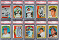 Baseball Cards:Lots, 1972 Topps Baseball #'s 300-399 PSA Mint 9 Collection (93). ...