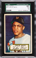 Baseball Cards:Singles (1950-1959), 1952 Topps Willie Mays #261 SGC 60 EX 5....