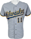 Baseball Collectibles:Uniforms, 1991 Gary Sheffield Game Worn Milwaukee Brewers Jersey & Helmet. ...