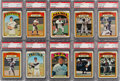 Baseball Cards:Lots, 1972 Topps Baseball PSA NM-MT+ 8.5 and NM-MT 8 Collection (27). ...