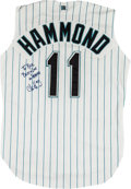 Baseball Collectibles:Uniforms, 1993-94 Chris Hammond Game Worn Florida Marlins Jersey....