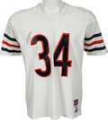 Football Collectibles:Uniforms, 1980's Walter Payton Signed Chicago Bears Jersey....