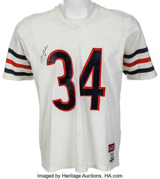 designer fashion f6aa9 3e7e9 1980's Walter Payton Signed Chicago Bears Jersey ...