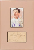 "Autographs:Others, 1942 Napoleon ""Larry"" Lajoie Signed Government Postcard...."