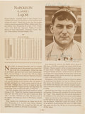 "Autographs:Others, 1953 Napoleon ""Larry"" Lajoie Signed Who's Who in Baseball Page...."