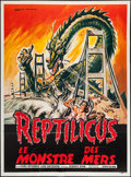 """Movie Posters:Science Fiction, Reptilicus (American International, 1961). French Grande (46"""" X62.5""""). Science Fiction.. ..."""
