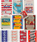 Non-Sport Cards:Lots, 1930's-1950's Non-Sports Wrappers/Packaging Collection (10). ...