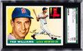 Baseball Cards:Singles (1950-1959), 1955 Topps Ted Williams #2 SGC 86 NM+ 7.5....