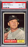 Baseball Cards:Singles (1960-1969), 1961 Topps Mickey Mantle #300 PSA NM-MT+ 8.5....
