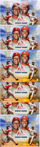 Autographs:Photos, 2008 Stan Musial & Bob Gibson Signed Oversized Photographs Lotof 6....