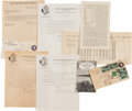Baseball Collectibles:Others, 1946 Correspondence Between Ed Delahanty Family and Baseball Hall of Fame....