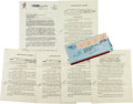 Autographs:Letters, 1958 Chicago White Sox Cuban Radio Contracts Lot of 5....