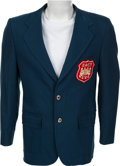 Football Collectibles:Uniforms, 1974 Walter Payton East-West Shrine Game Sports Coat....