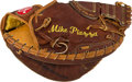 Autographs:Baseballs, 2000's Mike Piazza Game Used Catcher's Mitt....