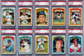 Baseball Cards:Lots, 1972 Topps Baseball #'s 500-599 PSA Collection (86). ...
