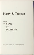 Books:Biography & Memoir, Harry S. Truman. INSCRIBED. Memoirs Volume One: Year of Decisions. Garden City: Doubleday, 1955. First edition. Wa...