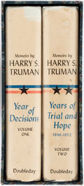 Books:Biography & Memoir, Harry S. Truman. SIGNED. Year of Decisions [and:] Yearsof Trial and Hope. Garden City: Doubleday, 1955, 195... (Total:2 Items)