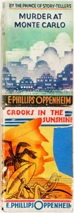 Books:Mystery & Detective Fiction, E. Phillips Oppenheim. Crooks in the Sunshine [and:]Murder at Monte Carlo. London: Hodder and Stoughton, 19...(Total: 2 Items)